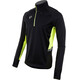 PEARL iZUMi Pursuit Wind Thermal - Camiseta manga larga running Hombre - amarillo/negro